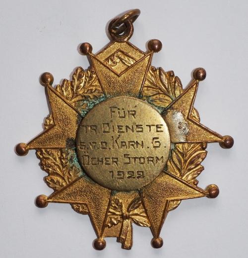 Orden 1922, K.K. Oecher Storm 1881